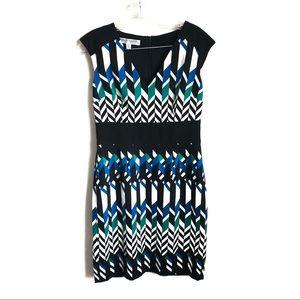 Maggy London Geometric Print Petite Dress